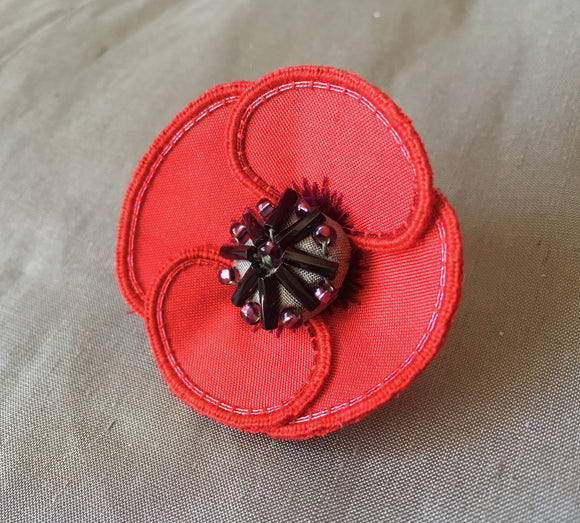 'Poppy' Stumpwork Embroidery Kit