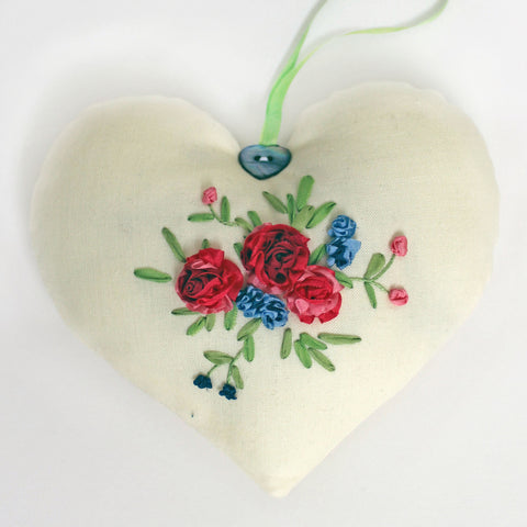 'Rose Sachet' Silk Ribbon Embroidery Kit
