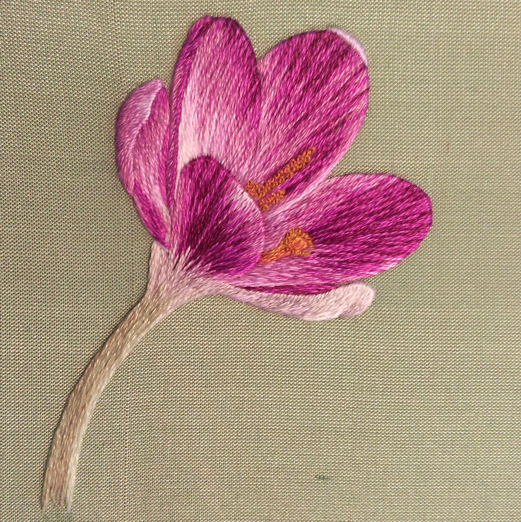 Crocus silk shading embroidery kit laurelin