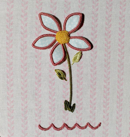 'Retro Flower' Stumpwork Embroidery Kit