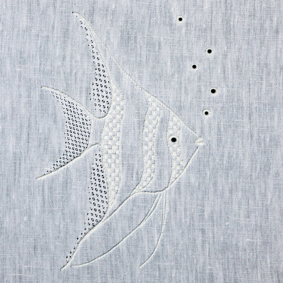 'Angelfish' Whitework Embroidery Pattern