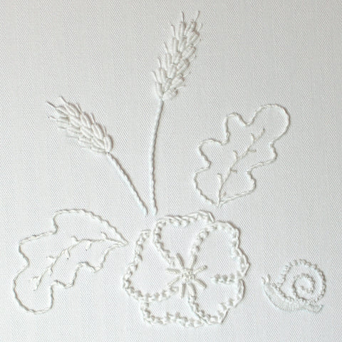 'Sneaky Snail' Mountmellick Whitework Embroidery Kit