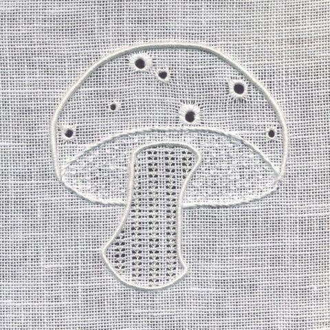 'Toadstool' Whitework Embroidery Kit