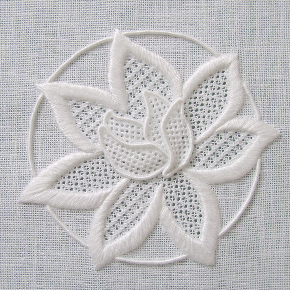 'Waterlily' Whitework Embroidery Kit