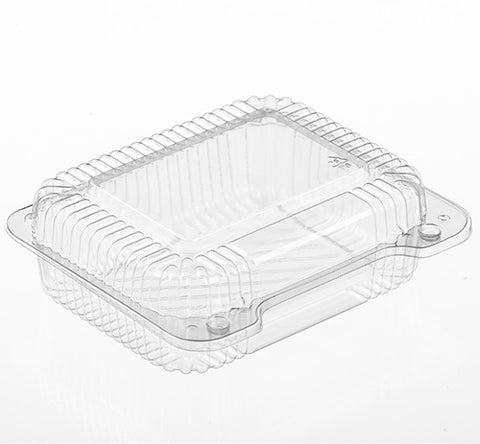"Small 6"" Clear Hinged Container SL26 - American Food Service"