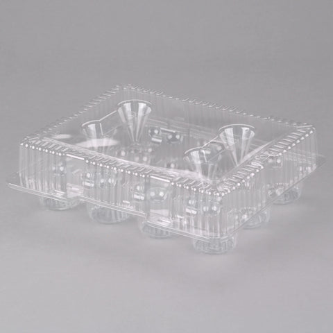 12-Count / Cup Cake Tray W/ Dome Lid - American Food Service