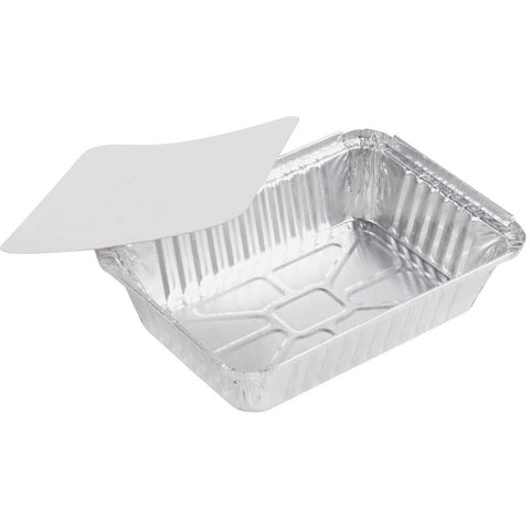 AFSD Aluminum 2.5Lb Oblong with Lids - American Food Service