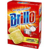 Brillo Steel Wool Soap Pads 10 Count - American Food Service