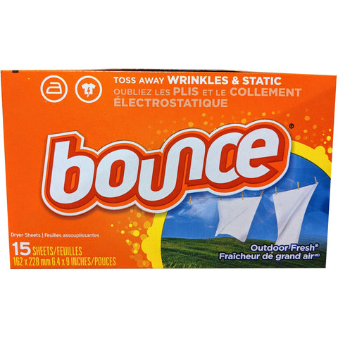 Bounce Fabric Softener Sheets 15 Count - American Food Service