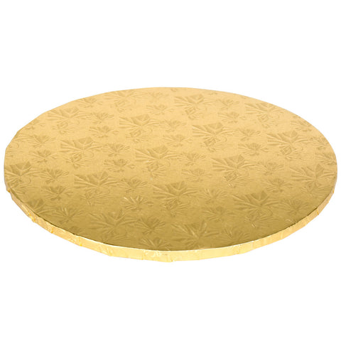 18'' Double Wall Gold Cake Circle - American Food Service