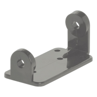 Take-A-Number D90 Grey Plastic Ticket Dispenser Back Bracket - American Food Service