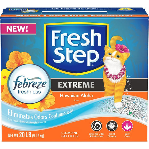 Fresh Step 20lb Extreme with Febreze Freshness Clumping Cat Litter - American Food Service