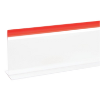 "Plastic Divider White with Red Trim 5"" x 30"" - American Food Service"