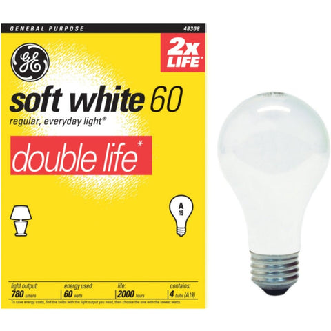 G.E. Light Bulb 60 Watt - American Food Service