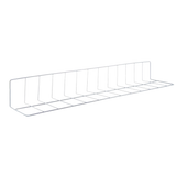 "Wire Fence Divider White 30"" x 6"" x 4"" - American Food Service"