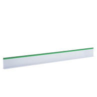 "Plastic Divider White with Green Trim 3"" x 30"" - American Food Service"