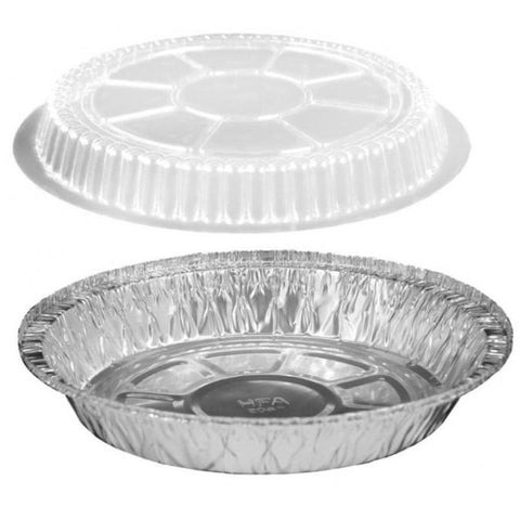 AFSD 7 inch Round Foil Take Out Combo Pan Set - American Food Service