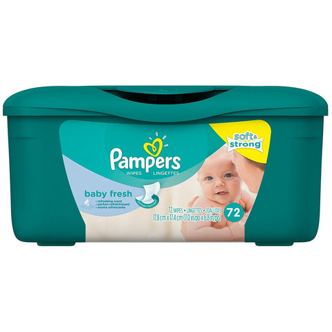 Pampers Baby Wipes 72 Count - American Food Service