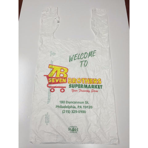 Custom 7 Brothers Supermarket Shopping Bag - American Food Service