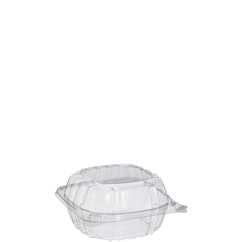 "Clear Hindged  6"" Container - American Food Service"