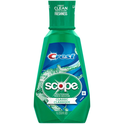 Crest Scope 1L Classic Mouthwash - American Food Service
