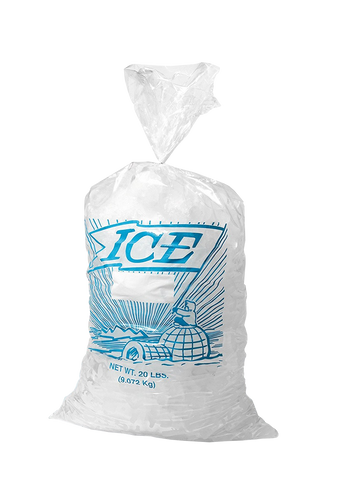 Printed Metallocene Ice Bag 10 lb - American Food Service