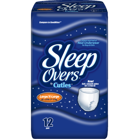 SleepOvers by Cuties, Large-Extra Large Overnight Youth Pants - American Food Service