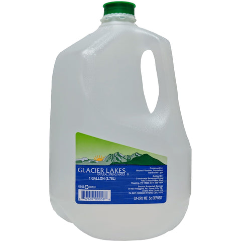 Glacier Lakes Spring Water Gallon - American Food Service