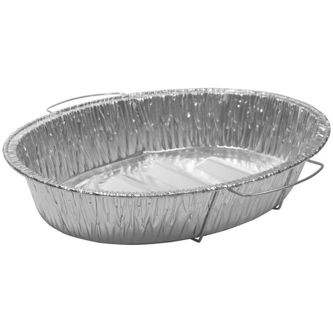 Durable Packaging Aluminum Oval Roasters with Handles - American Food Service