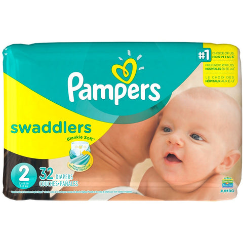 Pampers Swaddlers Diapers, Size 2 - American Food Service