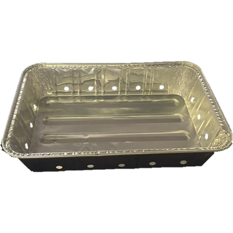 AFSD Disposable Aluminum BBQ Grill Pan with Holes - American Food Service