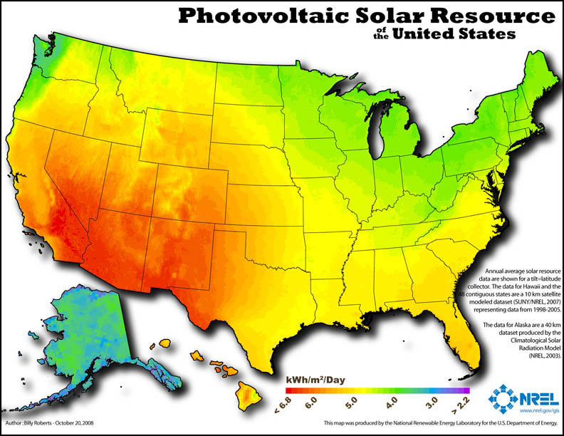 Solar Resource Map