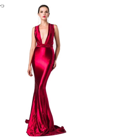Marie Ruby Red Gown