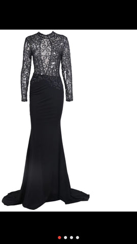 Shiny Sheer Prom Dinner dress