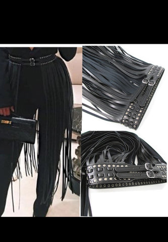 Fringe Belt with buckles