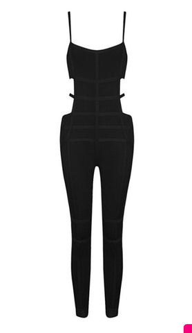 Kay cut out bandage jumpsuit