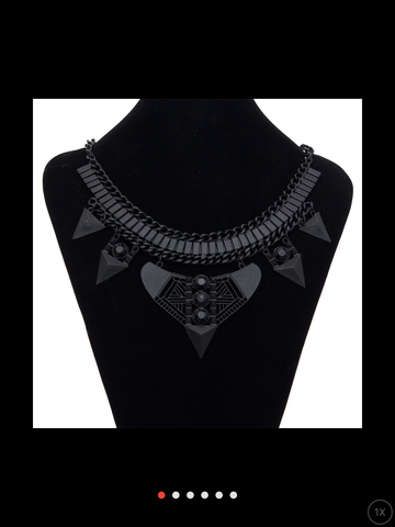 Matte-black necklace