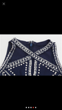 The Embroidery Navy Blue  Top