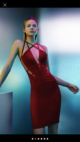 Zizat Bandage dress- red