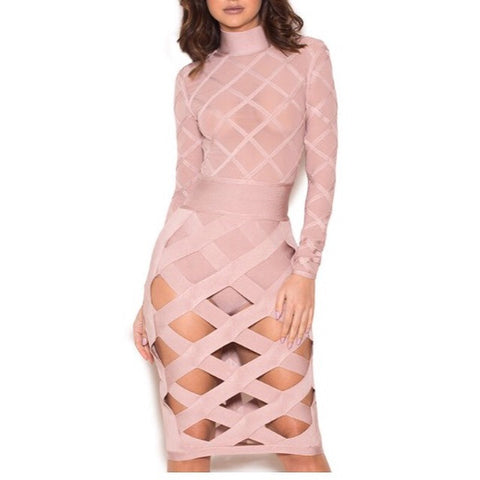 Cici Cut Out Bandage Dress