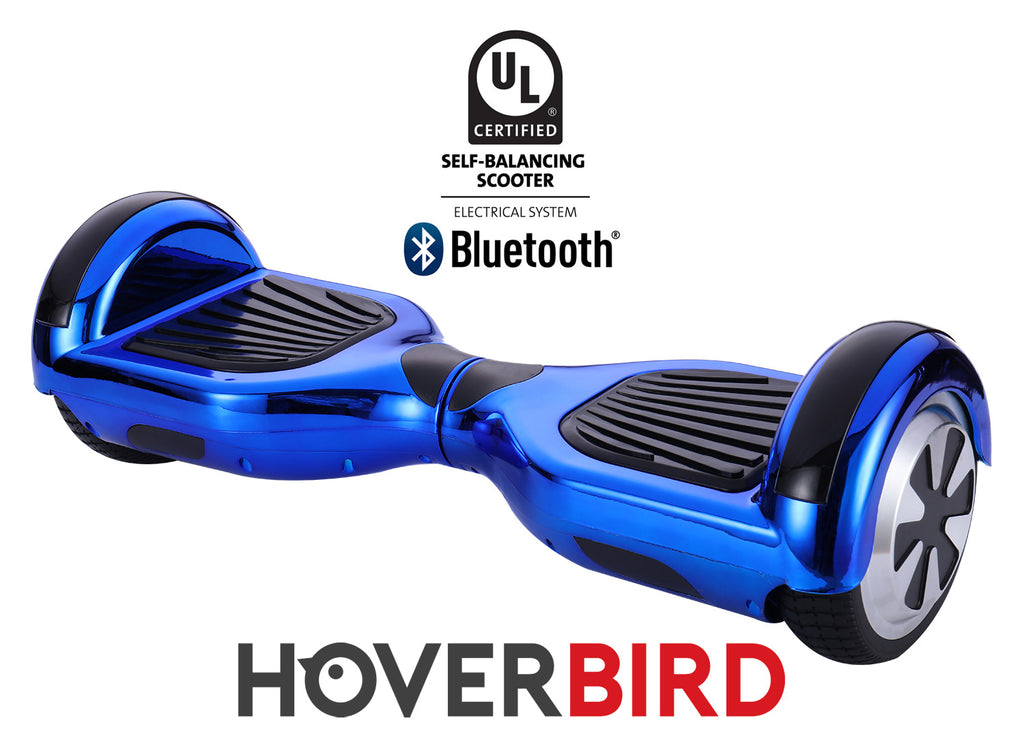 BLUE HOVERBOARD CHROME - Z1 UL2272 CERTIFIED SELF BALANCING SCOOTER - BLUETOOTH
