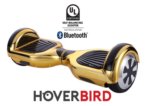 GOLD HOVERBOARD CHROME - Z1 UL2272 CERTIFIED SELF BALANCING SCOOTER - BLUETOOTH