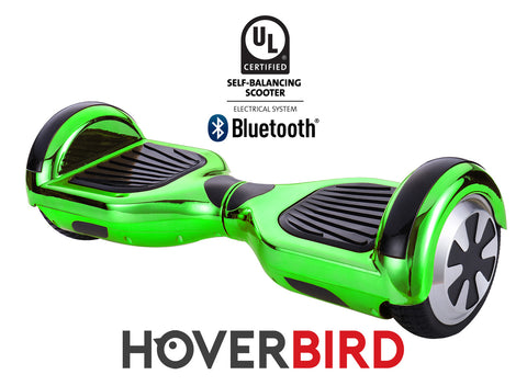 GREEN HOVERBOARD CHROME - Z1 UL2272 CERTIFIED SELF BALANCING SCOOTER - BLUETOOTH