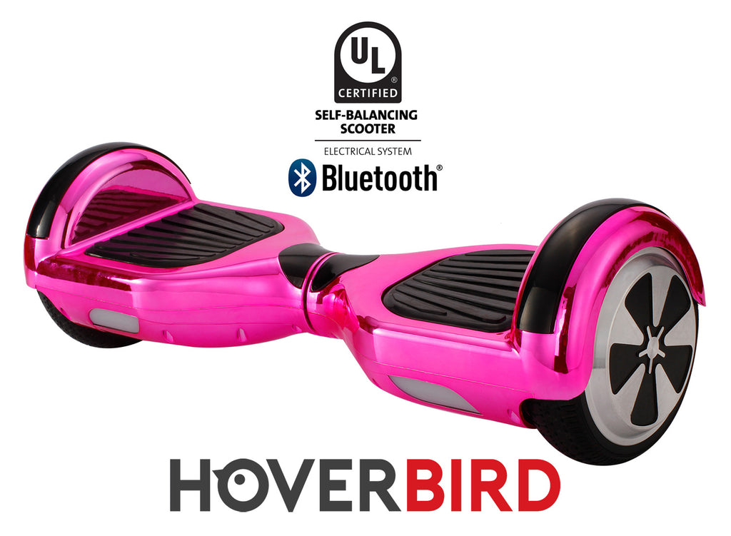 PINK HOVERBOARD CHROME - Z1 UL2272 CERTIFIED SELF BALANCING SCOOTER - BLUETOOTH
