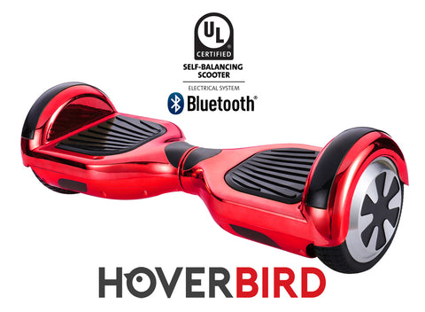 RED HOVERBOARD CHROME - Z1 UL2272 CERTIFIED SELF BALANCING SCOOTER - BLUETOOTH