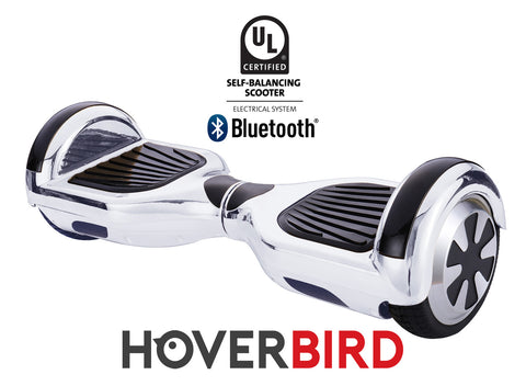SILVER HOVERBOARD CHROME - Z1 UL2272 CERTIFIED SELF BALANCING SCOOTER - BLUETOOTH