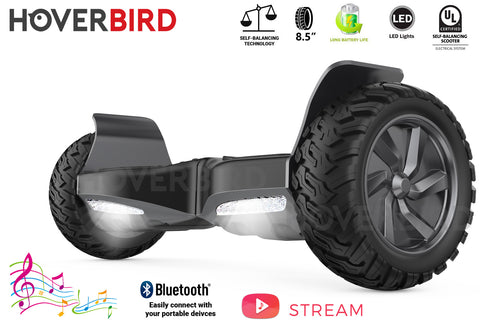 "HOVERBIRD ES03 SUV - UL2272 Certified 600W - 8.5"", Off-Road All Terrain - BLUETOOTH"