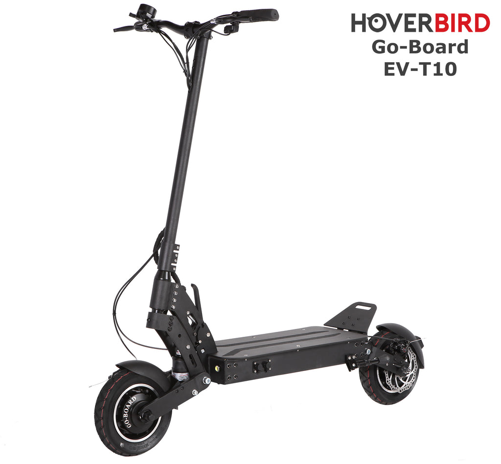 GO-BOARD EV-T10 Electric City Scooter Spring Suspension 1600W/60V/15Ah