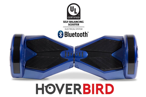 "UL2272 I5 Self Balancing Blue Black Hoverboard 8"" with Bluetooth - 700W"