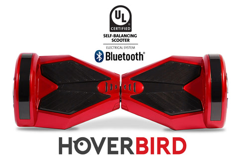UL2272 I5 Self Balancing Red Hoverboard 8'' with Bluetooth - 700W